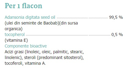 ingrediente ulei baobab secom